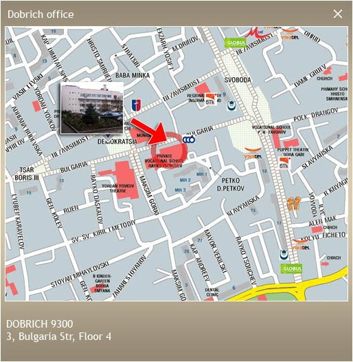 Map - Dobrich office