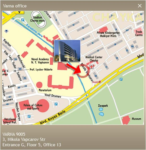 Map - Varna office